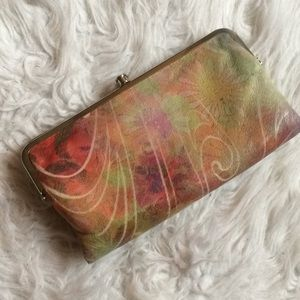 HOBO multi colored print clutch AS-IS